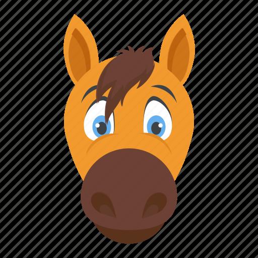 bronco, colt, domestic animal, horse, mare icon