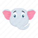 elephant, mammal, pachyderm, wild animal, zoo icon