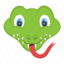 dangerous animal, reptile, serpent head, snake face, viper icon