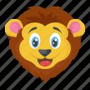 animal, jungle king, lion, wild animal, zoo icon