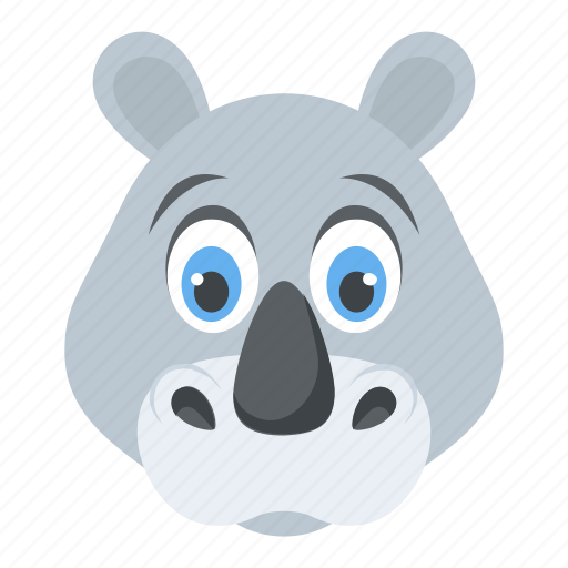 Animal, jungle, rhino, rhinoceros, wildlife, zoo icon - Download on Iconfinder