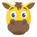 buffalo, calf, cattle, cow, domestic animal icon