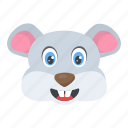 animal, mice, smiling mouse, wild rat, wildlife icon