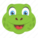 animal, reptile, tortoise face, turtle head, wildlife icon
