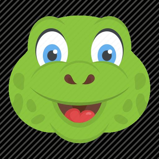 animal, reptile, tortoise face, turtle head, wildlife icon