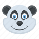 animal, panda face, polar bear, wildlife, zoo icon