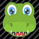 alligator face, crocodile close up, reptile, wild animal, wildlife icon