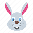 animal, bunny, cony, hare head, rabbit face icon