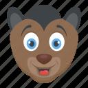 cartoon animal, forest animal, mammal, squirrel monkey, wildlife icon