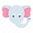 baby elephant, mammal, safari animal, wildlife, zoo animal icon