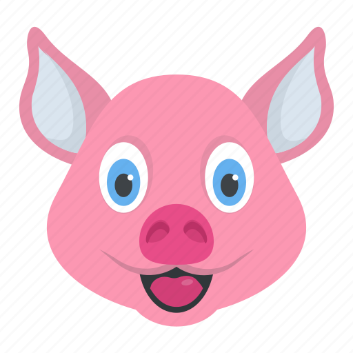 animal, boar, funny pig, mammal, tapir icon