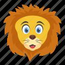 animal, jungle king, lion, wild animal, zoo animal icon