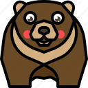 animal, bear, grizzly, mammal, wild, wildlife icon