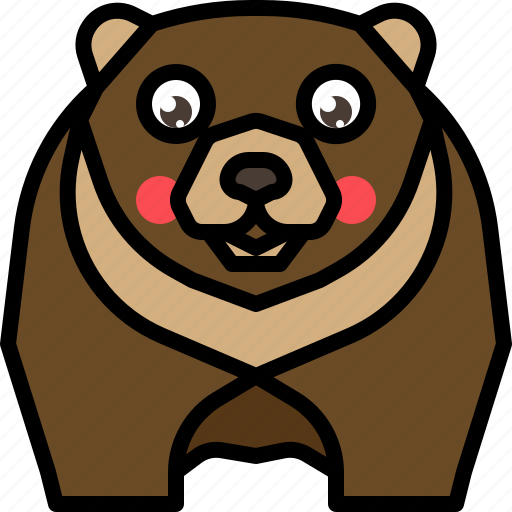animal, bear, grizzly, mammal, wild, wildlife icon