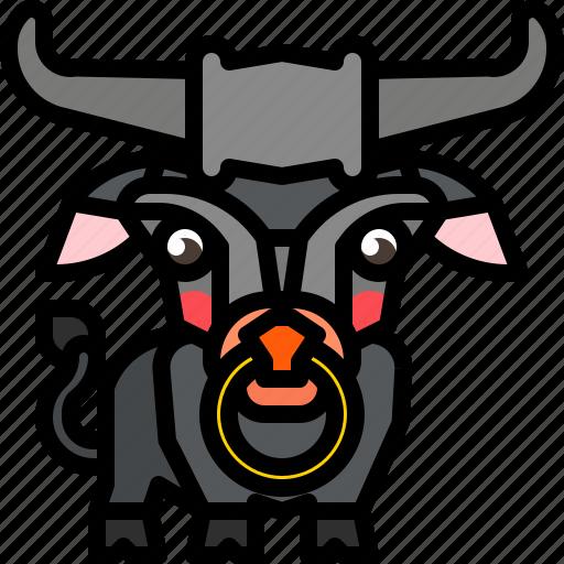 animal, buffalo, bull, mammal, wild icon