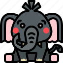 animal, elephant, mammal, wildlife icon