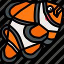 animal, fish, nemo, underwater, wildlife icon
