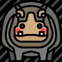 animal, hippo, hippopotamus, mammal, safari, wildlife icon