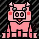 animal, cartoon, pig, pigs icon