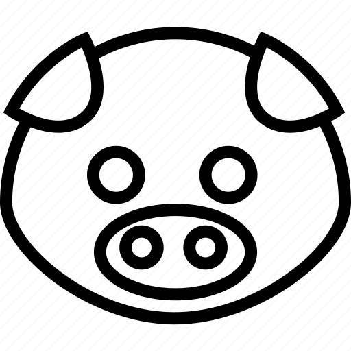 animal, avatar, big, cartoon, face icon