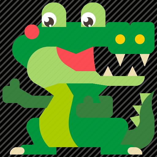 alligator, animal, crocodile, predator, reptile icon