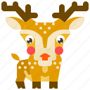 animal, deer, mammal, reindeer, wildlife icon