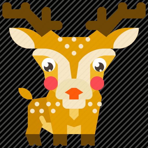 animal, deer, mammal, reindeer, wildlife icon