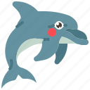 animal, dolphin, fish, mammal, ocean, sea