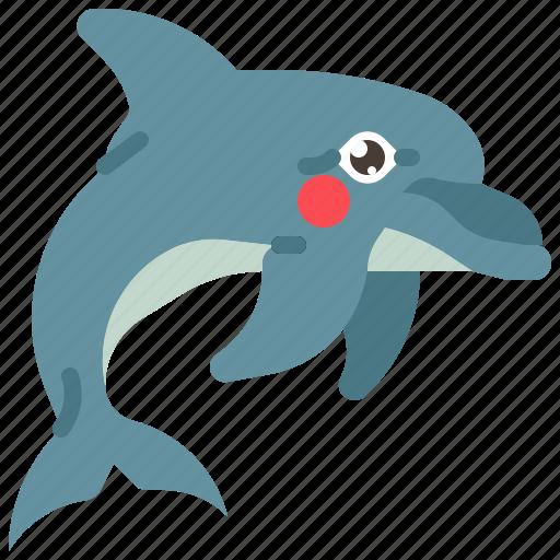 animal, dolphin, fish, mammal, ocean, sea icon