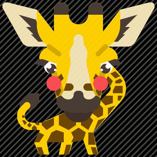 africa, animal, giraffe, mammal, safari, wildlife icon