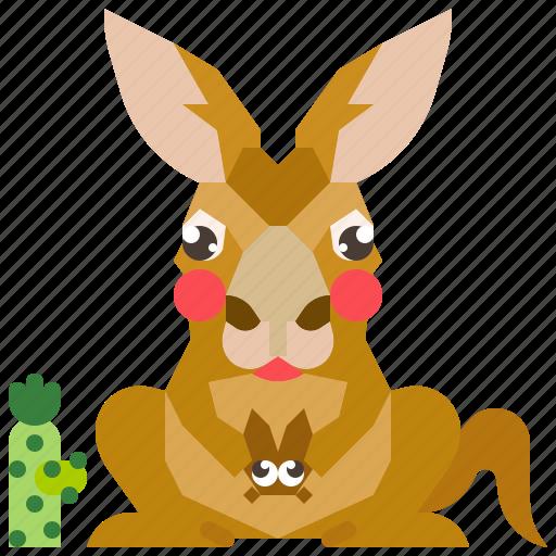 animal, australia, kangaroo, mammal, wild, wildlife icon