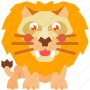 animal, king, lion, mammal, predator, wild, wildlife icon