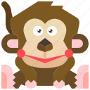 animal, ape, chimpanzee, monkey, wildlife icon