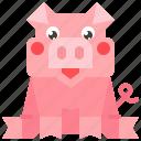 animal, cartoon, pig, pigs