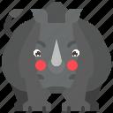 animal, horn, mammal, rhino, rhinoceros, wild, wildlife icon
