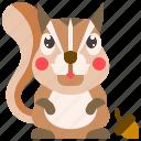 animal, mammal, nut, squirrel, wild icon