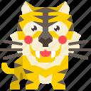 animal, cat, mammal, predator, tiger, wild, wildlife