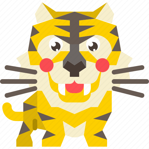animal, cat, mammal, predator, tiger, wild, wildlife icon