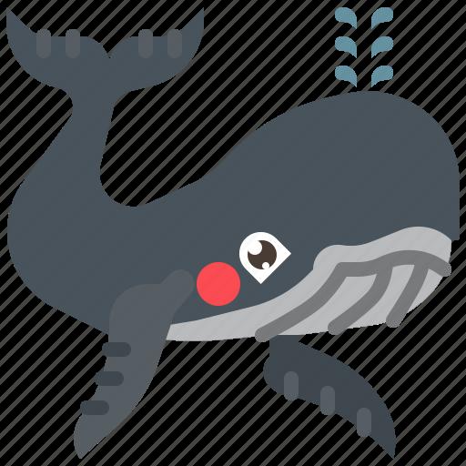 animal, fish, mammal, ocean, sea, whale icon