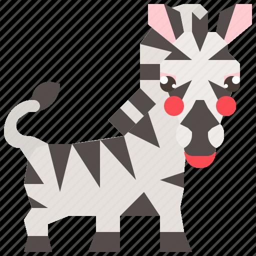 animal, safari, wild, wildlife, zebra icon