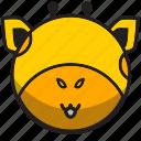 animal, cute, giraffe, sphere, yellow icon