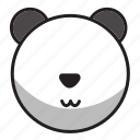 animal, cute, panda, sphere, white icon