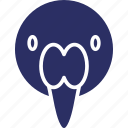 asian openbill, bird, ciconia, ciconiidae, stork icon