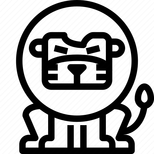 animal, avatar, character, lion, wild icon
