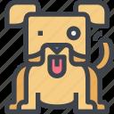 animal, avatar, character, dog, wild icon
