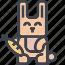 animal, avatar, character, rabbit, wild icon