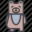 animal, avatar, bear, character, wild