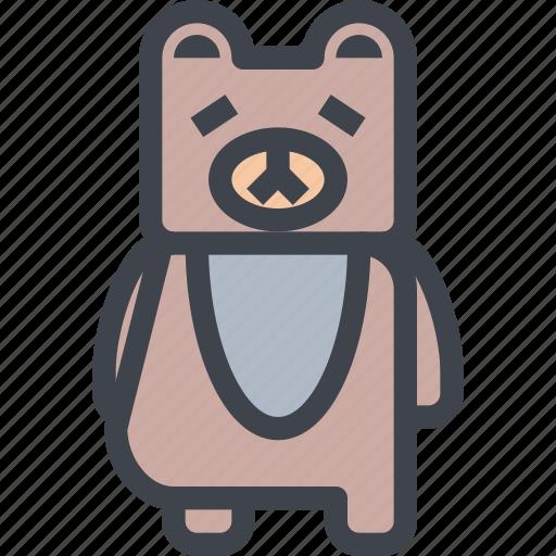 animal, avatar, bear, character, wild icon