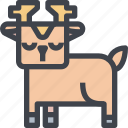 animal, avatar, character, deer, wild icon