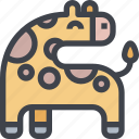 animal, avatar, character, giraffe, wild icon